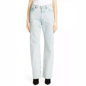 New Y/Project Snail Line Print Straight Leg Jeans